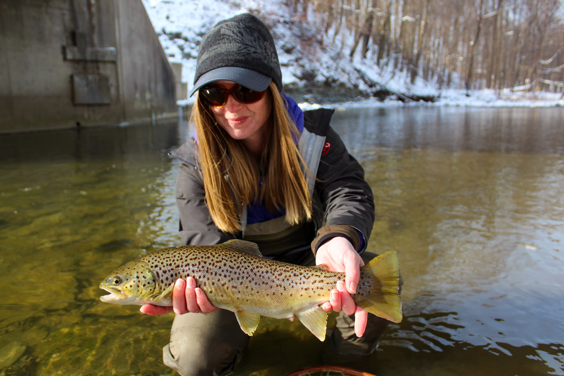 Fly fishing the Lake Erie tributaries in Pennsylvania!