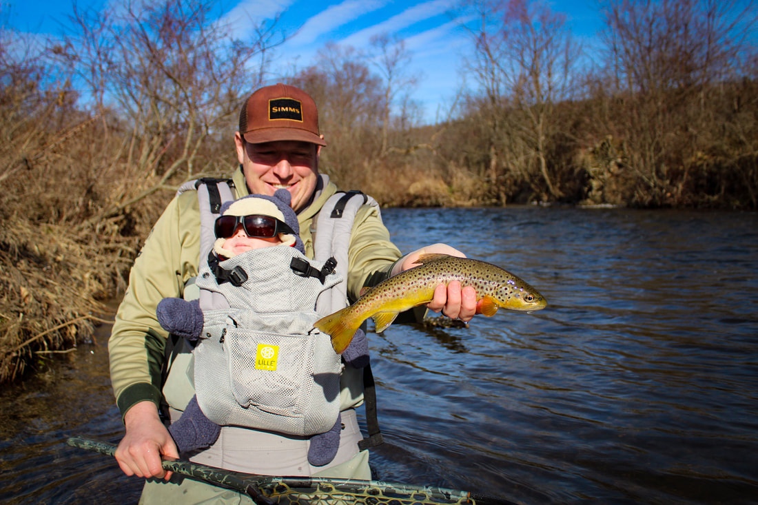 Guided fly fishing trips for trout in Pennsylvania.