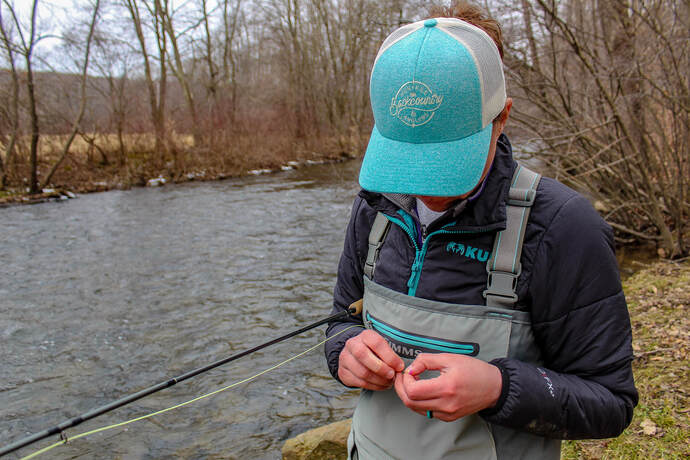 Fly fishing for trout in Pennsylvania.